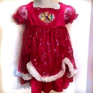 🌲Like-new Disney Princess Xmas PJ